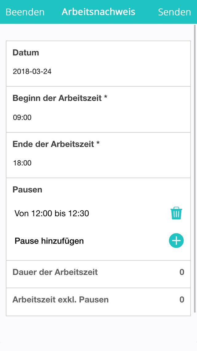 Vorlage für Arbeitszeitnachweise