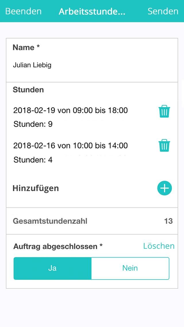 Zeiterfassungs App