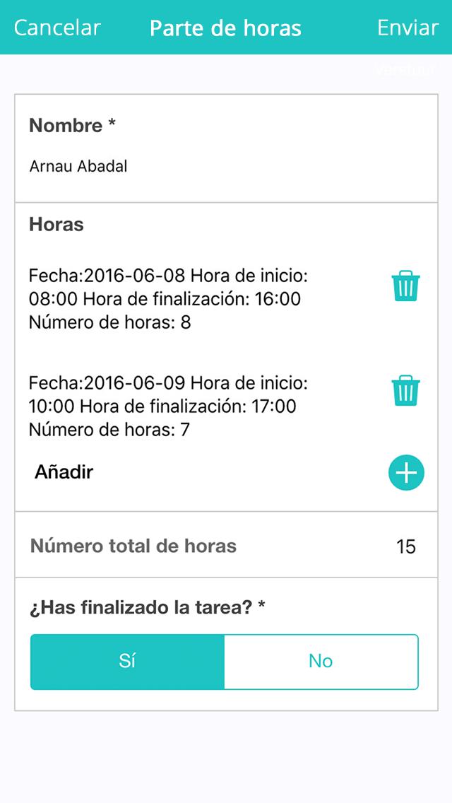 App Parte de horas