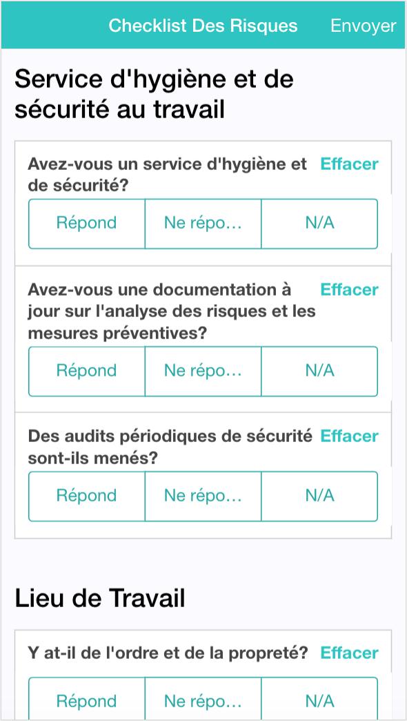 Application de Checklist