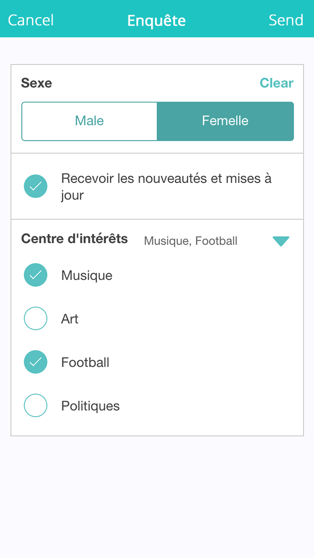 Application de Sondage